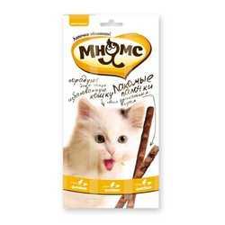 Мнямс лакомство для кошек курица с печенью 5 гр х 3 шт