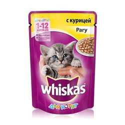 Whiskas паучи для котят рагу с курицей 85 гр х 24 шт