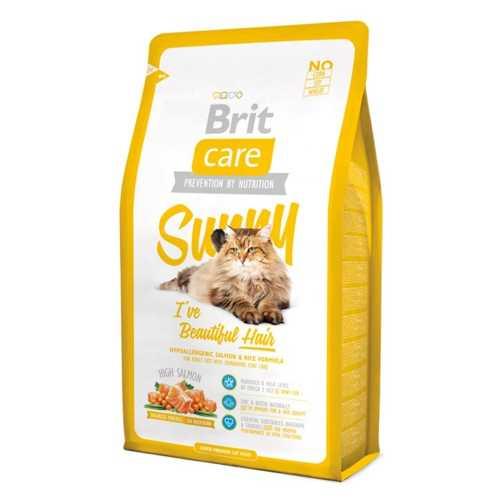 Брит Кеа сухой корм для длиношерстных кошек с лососем и рисом 2 кг