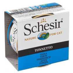 Schesir консервы для кошек с тунцом 85 гр х 14 шт