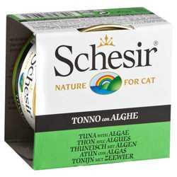 Schesir консервы для кошек с тунцом и водорослями (0,085 кг) 14 шт