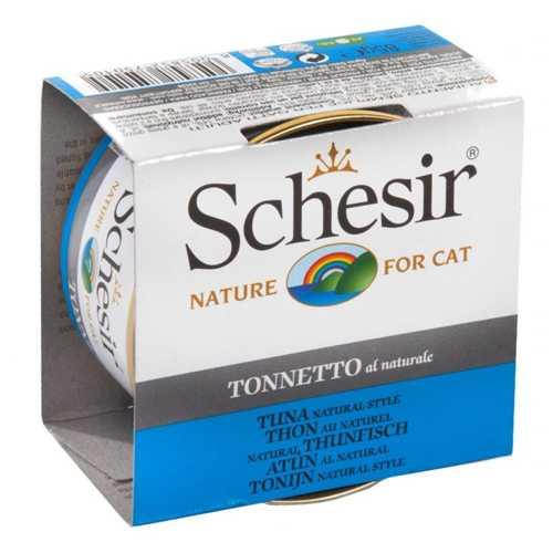 Schesir консервы для кошек тунец в собственном соку (0,085 кг) 14 шт