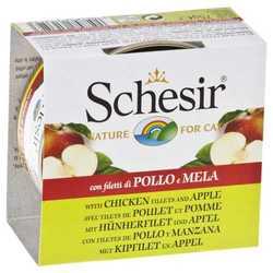 Schesir консервы для кошек с курицей и яблоком (0,075 кг) 14 шт