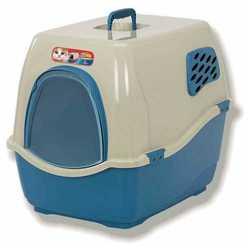 Marchioro bill 1f био-туалет закрытый для кошек сине-бежевый 50х40х42 см
