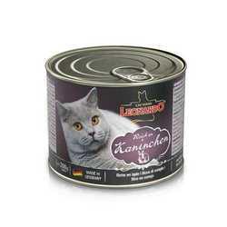 Леонардо консервы для кошек с кроликом (0,2 кг) 12 шт