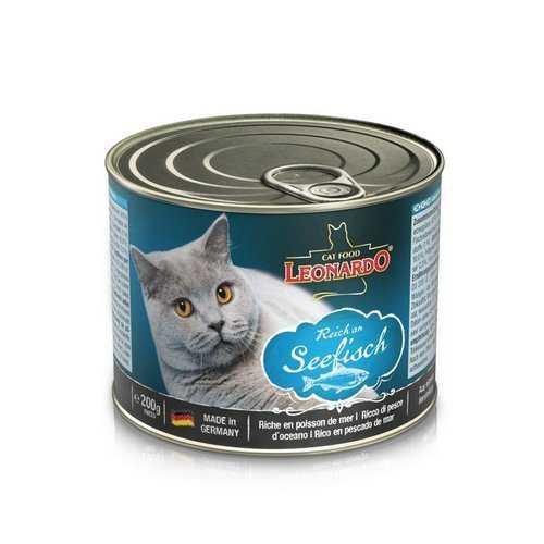 Леонардо консервы для кошек с рыбой (0,2 кг) 12 шт