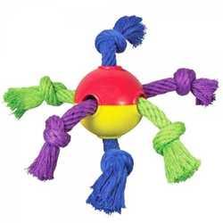 """Petstages """"Мячик с канатами"""" игрушка для щенков 8 см"""