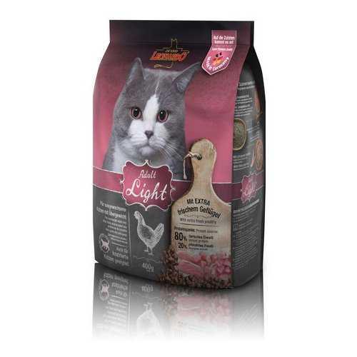 Леонардо сухой корм для кошек низкокалорийный 400 гр