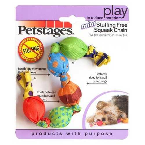 """Petstages игрушка для собак Mini """"Жевательная цепь"""" с пищалками текстиль"""