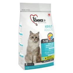 1st Choice Skin and Coat корм для взрослых кошек с лососем 5,44 кг