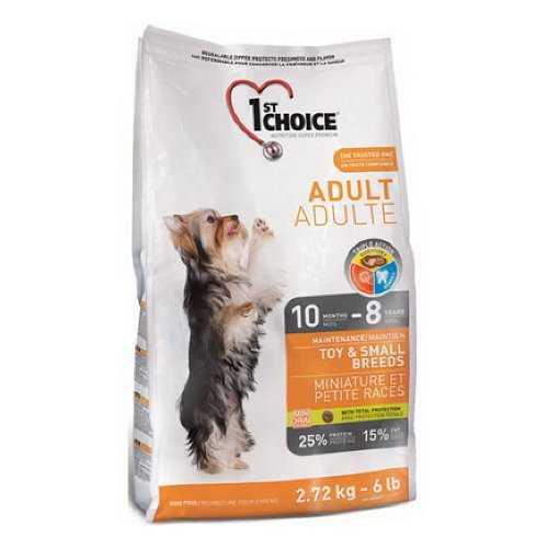 1st Choice сухой корм для взрослых собак мелких пород 2,72 кг