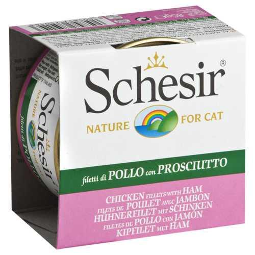 Schesir консервы для кошек курица/ветчина (0,085 кг) 14 шт