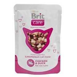 Brit Care Chicken Duck паучи для кошек курица с уткой (0,08 кг) 24 шт