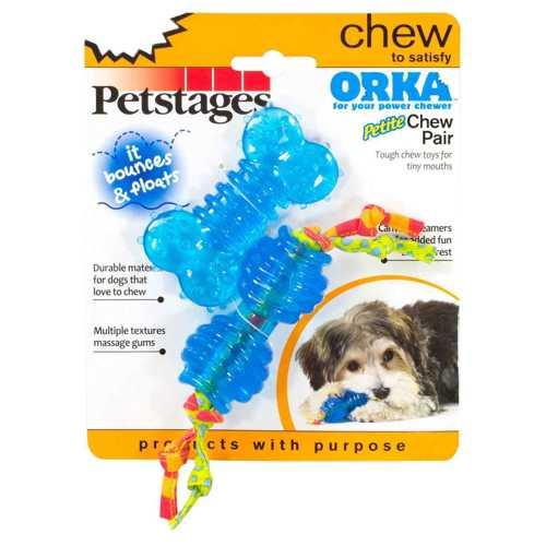 """Petstages набор из двух игрушек для собак мелких пород """"ОРКА косточка+гантеля"""""""