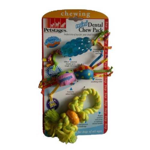 """Petstages набор из трех игрушек для собак мелких пород Mini """"Канат+ОРКА-шишка+игрушка"""