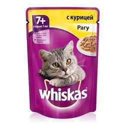 Whiskas паучи для пожилых кошек рагу из курицы (0,085 кг) 24 шт