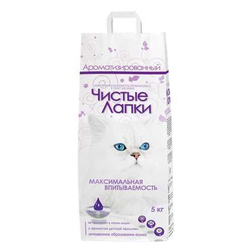 Чистые лапки комкующий ароматизированный наполнитель 5 кг х 3 шт