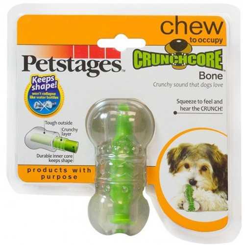 """Petstages игрушка для собак """"Хрустящая косточка"""" резиновая очень маленькая"""