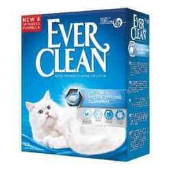 Ever Clean Extra Strenght наполнитель комкующий без аромотизатора (голубая полоса) 6 кг