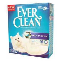 Ever Clean Multi Crystal наполнитель комкующий с кристалами силикагеля (сиреневая полоса) 6 кг