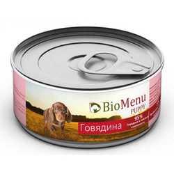Biomenu консервы для щенков с говядиной (0,1 кг) 1 шт