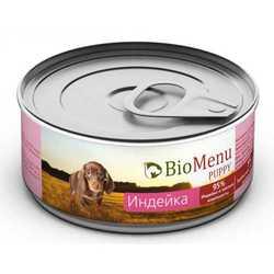 Biomenu консервы для щенков с индейкой (0,1 кг) 1 шт