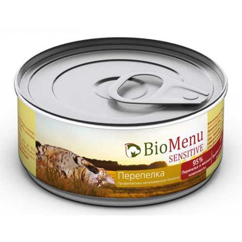 Biomenu sensitive консервы для кошек с перепелкой (0,1 кг) 1 шт