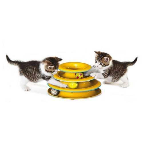 """Petstages игрушка для кошек """"Трек"""" 3 этажа"""