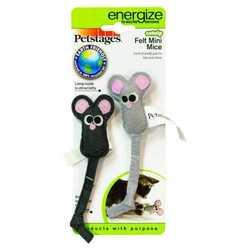 """Petstages """"Мышка"""" фетровая игрушка для кошек 2 шт."""