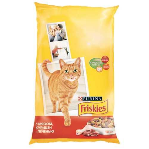 Friskies сухой корм для кошек мясо/курица/печень 10 кг
