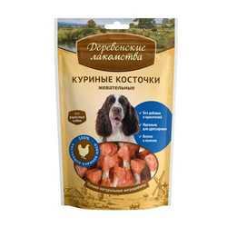 Деревенские лакомства для собак куриные жевательные косточки 90 гр