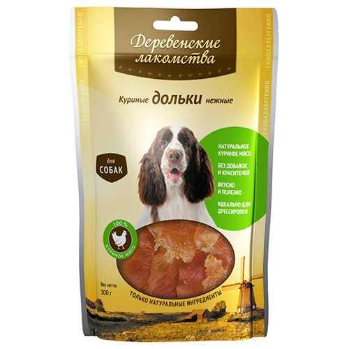 Деревенские лакомства для собак куриные дольки 100 гр