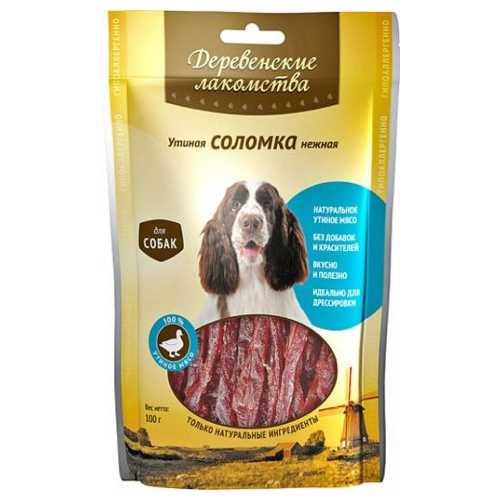 Деревенские лакомства для собак утиная соломка 100 гр