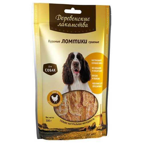 Деревенские лакомства для собак куриные ломтики 100 гр