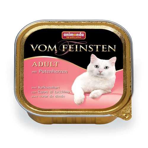 Анимонда Вом Файнштен консервы для кошек с сердцем индейки (0,10 кг) 32 шт