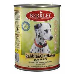 Berkley консервы для щенков с кроликом и овсянкой (0,4 кг) 6 шт