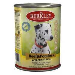 Berkley консервы для собак с говядиной и картофелем (0,4 кг) 6 шт