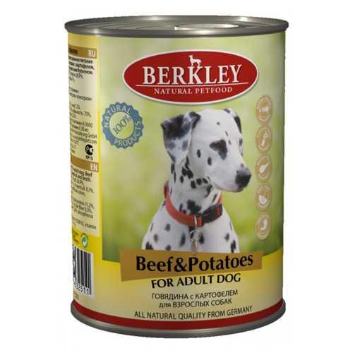 Berkley консервы для собак с говядиной и картофелем 400 гр х 6 шт