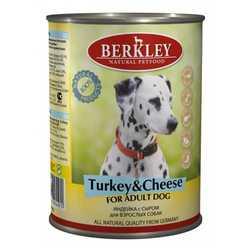 Berkley консервы для собак индейка с сыром (0,4 кг) 6 шт