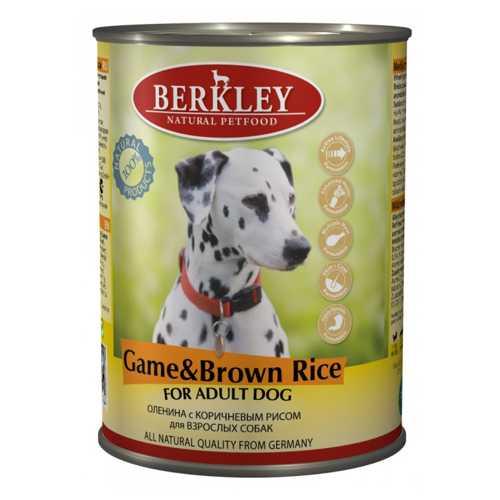Berkley консервы для собак с олениной и коричневым рисом 400 гр х 6 шт