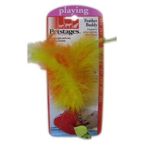 Petstages игрушка для кошек с перьями в ассортименте