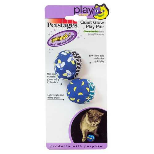 "Petstages игрушка для кошек ""Мяч"" текстиль 2 шт"