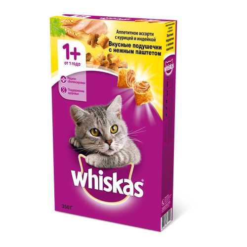 Whiskas сухой корм для кошек паштет курица/индейка 5 кг