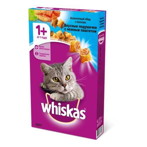 Whiskas сухой корм для кошек паштет с лососем 5 кг