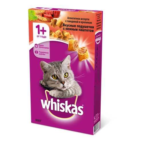 Whiskas сухой корм для кошек паштет говядина/кролик 5 кг