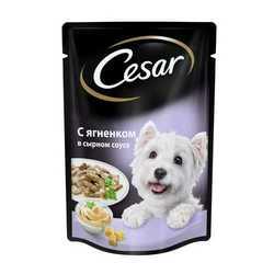 Cesar паучи для собак ягненок в сырном соусе (0,10 кг) 24 шт