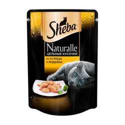 Sheba Naturelle паучи для кошек курица с индейкой 80 гр х 24 шт