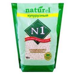 Crystals N 1 Naturel кукурузный комкующийся наполнитель 4,5 л