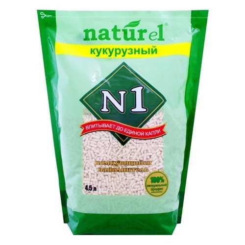 N 1 Naturel кукурузный комкующийся наполнитель 4,5 л