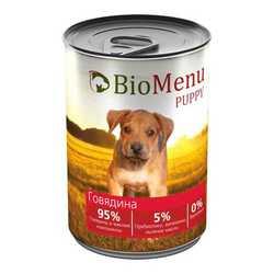 Biomenu консервы для щенков с говядиной (0,41 кг) 1 шт